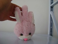 hot selling fashion winter plush rabbit shaped earcap with embroidery logo