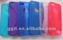 colorful mobile phone case for iPhone 5 ;the new design of S; cheap,good,