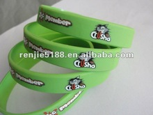 2012 fashion promotional gifts wristband/silicone rubber bracelet with cartoon logo