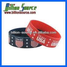 silicone college team bracelets