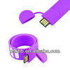 Top seller silicon wristband usb memory drive ,wristband flash memory stick/flash drive in wirstband shape