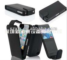 Credit Card Slot magnetic case for iPhone 4 flip case