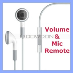 For Apple Earphones with Remote and Mic for iPhone 5 5S 4S iPod