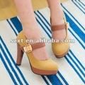 Les chaussures bon marché en gros de hauts talons vendent les chaussures en gros XT12092506 de concepteur de largeur de chaussures larges de femmes