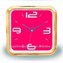 10 inches wall clock square wall clock customed dail cheap plastic wall clock gift clock