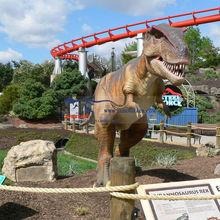 Siliron rubber made dinosaur playground set