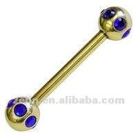 Charming diamond titanium 14g eyebrow rings body piercing jewelry