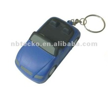 PU roadster shape key chain/stress reliever car shape keyring/anti stress car with keyring