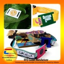 HOT ! Custom Fabric Wristband for Event(Top 10 Global Net Entrepreneurs)
