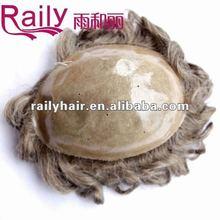 Strong knotting,no shedding,fine mono toupee