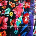 floral impreso boardshorts reciclaje impermeable de poliéster tejido de la tela