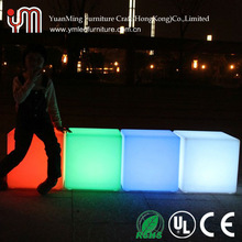 40cm Color Changing Led Cube / LED Cube Chairs / Led Cube