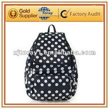 Wholesale white polka dot backpacks for high school girl