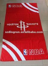 Basketball style promotional velour beach towel