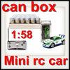 1:58 coke can mini rc car(8 Color mixed) rc mini car