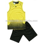 Two color men summer basketball uniform set