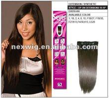 Clip on Kanekalon Futura Hair Extensions