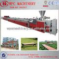 Usando reciclado de madera, La cáscara de arroz, Sierra, Paja de como materiales - perfil wpc maquinaria, Wpc de la máquina de extrusión