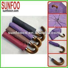 Purple striped curved umbrella