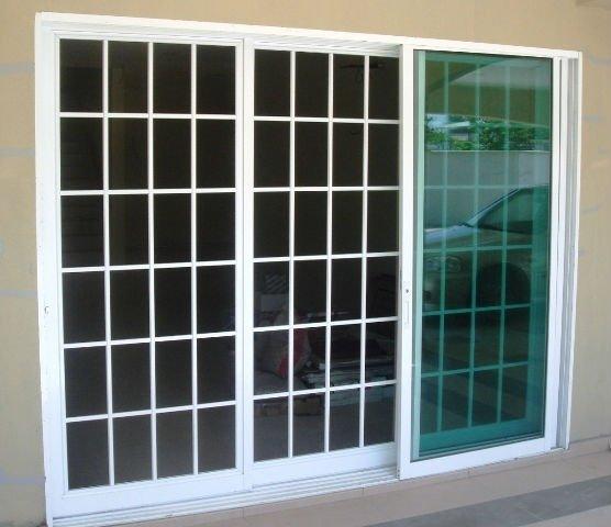 De aluminio de la parrilla de la puerta exterior para el - Modelos de puertas de aluminio para exterior ...