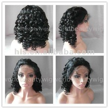 celebrity fashion curly virgin brazilian human hair cheap lace wig