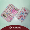 professional cute personal manicure kit with butterfly printing