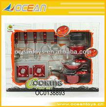 Plástico utensilios de cocina juguetes conjunto de los niños de cocina juguetes sistema del juego