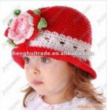 christmas hat Newsboy Hat for Children wool hat flower style hat