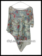Plus size clothing,viscose nations style o-neck casual t-shirts , tops,women clothing, t-shirts ,appreal ,clothes
