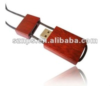 Wooden Necklace USB Pendrive for Gift