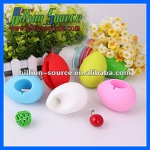cute egg music amplifier silicone speaker for Iphone 4/S 5G 5S