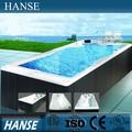Hs-k609 outdoor rechteckig 4.8m Länge acryl massage wasserstrahl-pool