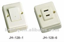 multi 2 flat or 2 round pin plug wall sockets 128