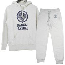 Custom Popular Printed Mens Fleece Hoodie Pants Sports Set Tracksuit