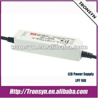 Meanwell LED Driver LPF-16D 16W Outdoor Constant Voltage Led Driver with PFC 1~10V PWM Dimming