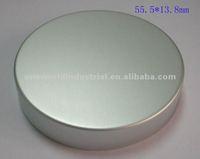 anodized aluminum thread/screw cap for lotion/beverage bottle
