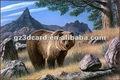 3d foto di orso selvatico