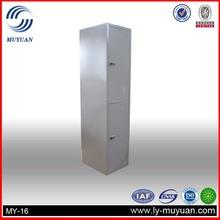 2 tiers /2 doors steel locker,metal double door storage locker
