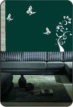 butterfly & tree wall sticker,modern design tree mirror sticker