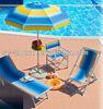 200cm printing polyester outdoor beach umbrella with fiber rib