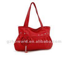 1 dollar lady handbags with big flower red flower bags