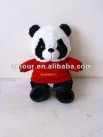 2012Hot!New!super cute plush stuffed baby panda red sweater China panda trendy design Christmas children gift big discount