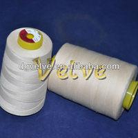 Raw white Egyptian long-staple cotton sewing thread