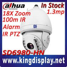 outdoor 216x zoom dahua ptz ip camera 1.3mega pixel 720p hd sony ccd high speed dome ip camera dahua sd6980-hn