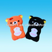 Lovely Bear model promotional mobile phone silicone case