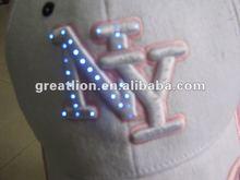 Fashion children cap with lights,Headwear Factory price