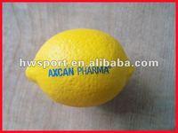 pu lemon anti stress toy.pu foam fruit,stress ball
