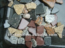 red and gray granite crushed stone , stone granite chips