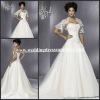 WD1395 Hot Selling Sweetheart Backless With Jacket Bolero Organza Half Sleeve Lace Wedding Dresses