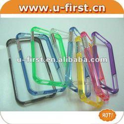 Transparent plastic bumper case for iPhone 4